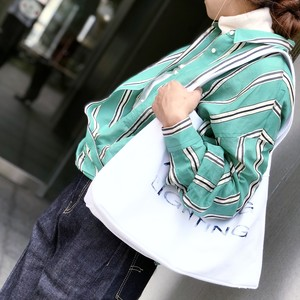 YUTORI SHIRTS/GREEN MULTI STRIPE