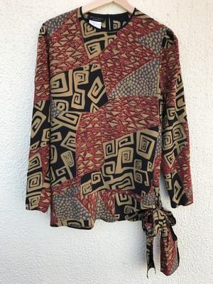 Diane freis silk geometric print tops