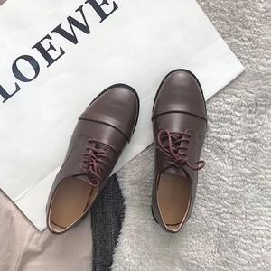 ストレートチップ革靴 オックスフォード マニッシュ 大人カジュアル 韓国