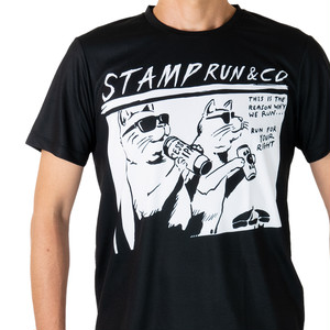 STAMP GRAPHIC RUN TEE (TWO CATS)