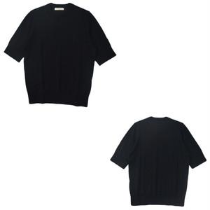 crespi (クレスピ) クルーネック半袖ニット 104-4708