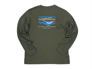 再販【Catch the wave long sleeve】/ khaki