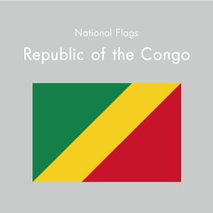 国旗ステッカー コンゴ共和国