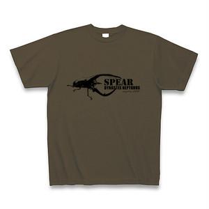 ネプチューンオオカブト Tシャツ -maylime- オリジナルデザイン オリーブ