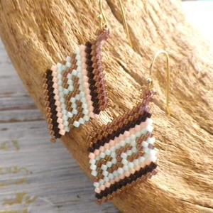 Rhombus  Pierce  Native pattern -Brown Gold-