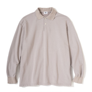 "Just Right ""WFH Polo L/S"" Lt Grey"