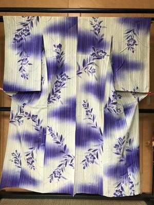【リサイクルアンティーク】桔梗の夏着物