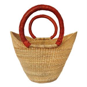 ガーナの手編みかごバッグ 2ハンドル 4 / Ghanian Basket Bag 2 handles 4