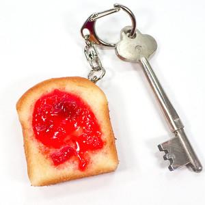 トースト 食品サンプル キーホルダー ストラップ マグネット