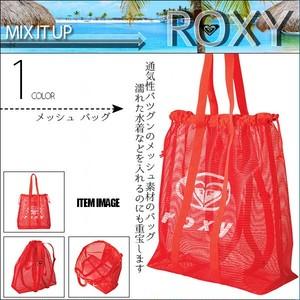 RBG202309 ロキシー トートバッグ レディース 水着入れ 巾着 プール 海 水泳 メッシュバッグ かわいい プレゼント 人気 ブランド 赤 ロゴ MIX IT UP ROXY