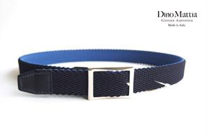 ディノマッティア|Dino Mattia|エラスティックメッシュベルト|ネイビー×ライトブルー