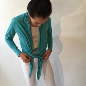 Pema Neha Wrap Cardigan Turquoise ネーハラップカーディ ターコイズ