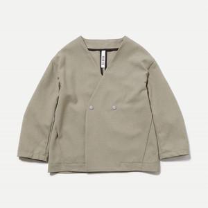 MOUN TEN.  polyester canapa Jacket カーキ F (大人サイズ) MT201002-c