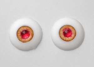 シリコンアイ - 17mm Burning Amber with Shiny Red Pupils
