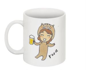 【マグカップ】イノシシ瑠愛 マグカップ
