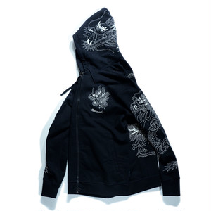 【MAHARISHI】 6608 Stencil Dragon Hooded Sweat