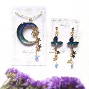 Ritoru fiora 月と蝶の舞ネックレス