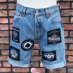 Used Cut Off Levi's #501 Denim Shorts  Motörhead W30