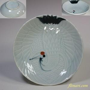 鶴小皿W5930