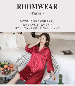 【♥即納】シャイニーワンピースルームウェア  roomwear085