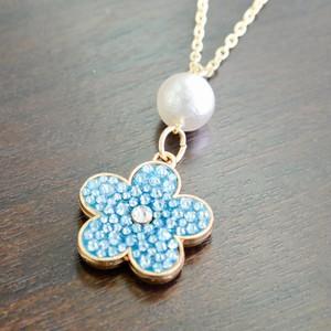 flower pearl   ネックレス