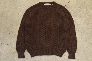 USED 70s Patrick Malin Aran Knit Sweater -Large 0822