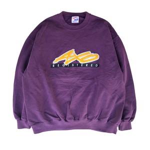 "USED 80's ""JERZEES"" cotton crewneck sweat - purple"