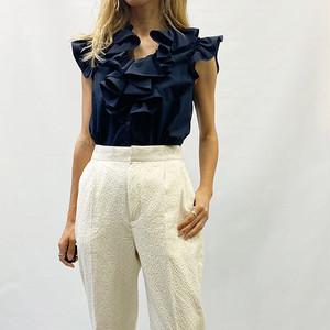 DOUBLE STANDARD CLOTHING(ダブルスタンダードクロージング)DOUBLE STANDARD CLOTHING(ダブルスタンダードクロージング) T/Cブロードブラウス 2021夏物新作 [送料無料]