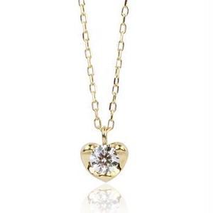 K18 ハート&ダイヤモンド0.10ct ネックレス