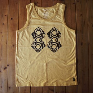 "TKHOME FACTORY ""ORIGINAL LOGO"" HEMP COTTON TANK TOP (無地) M #Light yellow"