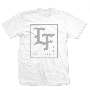 LIVE FIT Stamped Tee- White/Grey