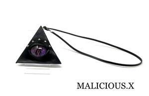 reptiles eye triangle coin case / violet