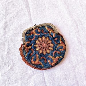 1890~1920's French Antique Fablic Coin Purse #01