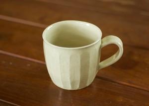 白橡釉 マグカップ(面)