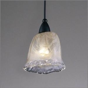 海にただよう海月(くらげ)のようなペンダントライトS ハンドメイドガラスセード【天井吊照明】