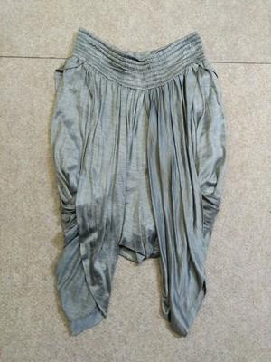 ヤエカ YAECA ショートパンツ シルク ダンス ドレス グレー h1066c