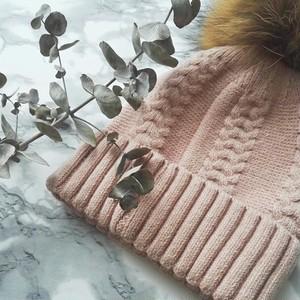 ポンポンミンク帽♥