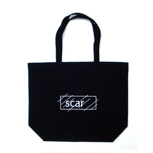 scar /////// OG LOGO STANDARD TOTE BAG / LARGE (Black)