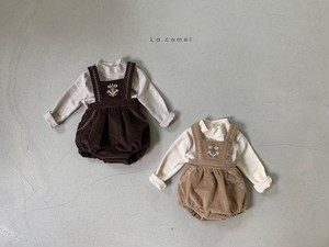 =sold out= polka suspender-pants〈la camel〉【baby】
