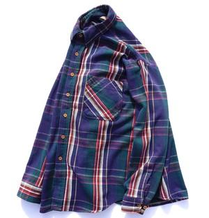 1990's USA製 [BIG MAC] ヘヴィーネルシャツ ネイビー 表記(L) ビッグマック