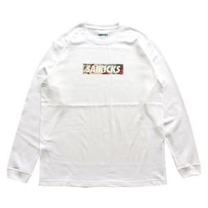 SAIKICKS FLOWER BOX LOGO L/S Tシャツ PORT OKINAWA ロンT サイキックス ポートオキナワ ホワイト