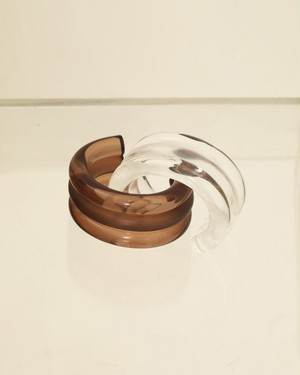 TODAYFUL トゥディフル Voluminous Clear Bangle ブラウン  12010938