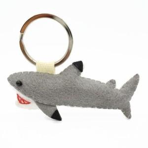 海の生物キーホルダー/ブラックチップ/サメ