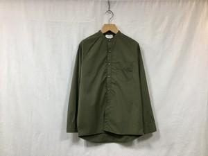 "FLISTFIA""Long Sleeve Henly Neck Shirt Olive"""