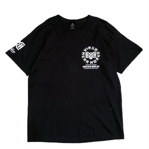 "VIRGOwearworks / ヴァルゴウエアワークス | BOUNTY HUNTER × VIRGOwearworks "" CHIN CIRCLE LOGO TEE "" - black"