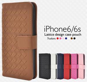 <スマホ・6/6s用>iPhone6/iPhone6s用ラティスデザインケースポーチ