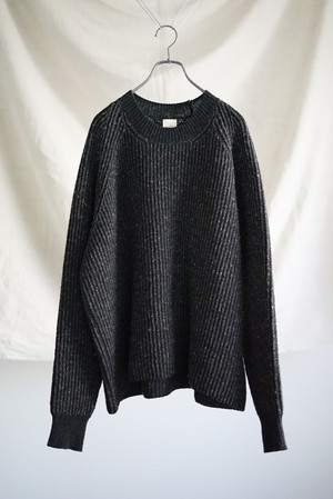 JAN JAN VAN ESSCHE - STRIPED, LOOSE FIT KNITTED CREW NECK SWEATER