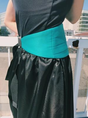 Vintage green cummer belt ( ヴィンテージ  グリーン かマーベルト )
