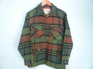 カナダ製 ビンテージ 緑 グリーン系 チェック CPO ジャケット OLD / メルトン ペンドルトン アウトドア シャドー オンブレ 60s 70s