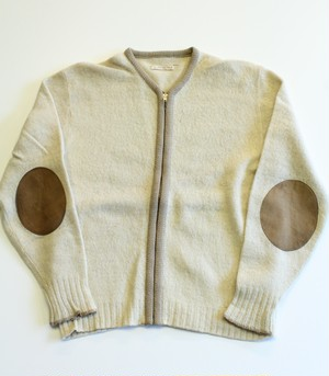 1960's〜1970's Vintage zip up knit sweater